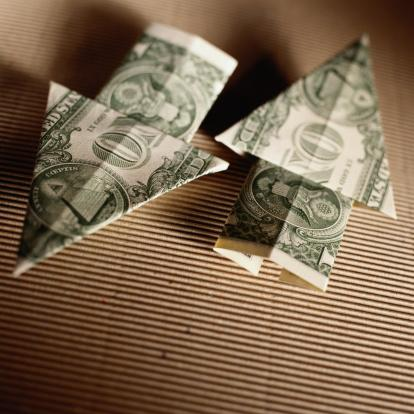 PHOTO: Thinkstock.com.  Origami Up and Down Arrows