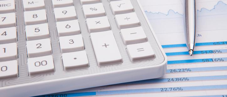 PHOTO: Thinkstock.com.  Calculator, pen and business balance
