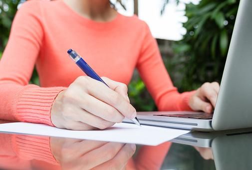 PHOTO: Thinkstock.com. College Forms - Woman making notes