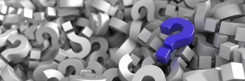 PHOTO: Thinkstock.com.  Infinite question marks.
